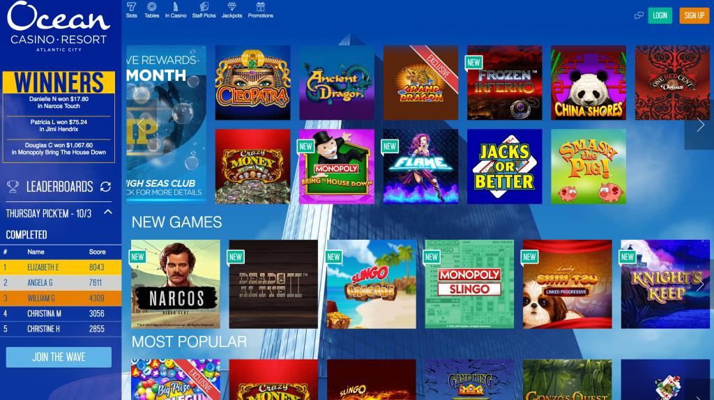 Ocean online casino NJ